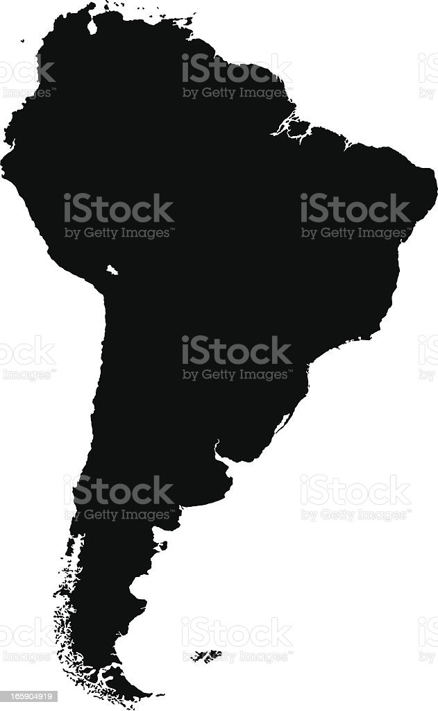 South America vector art illustration