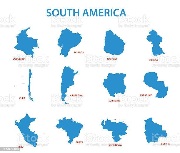 South america vector maps of countries vector id629827434?b=1&k=6&m=629827434&s=612x612&h=v jrra4t0ebebzxu fuftlosbzndei061qr9crczabo=