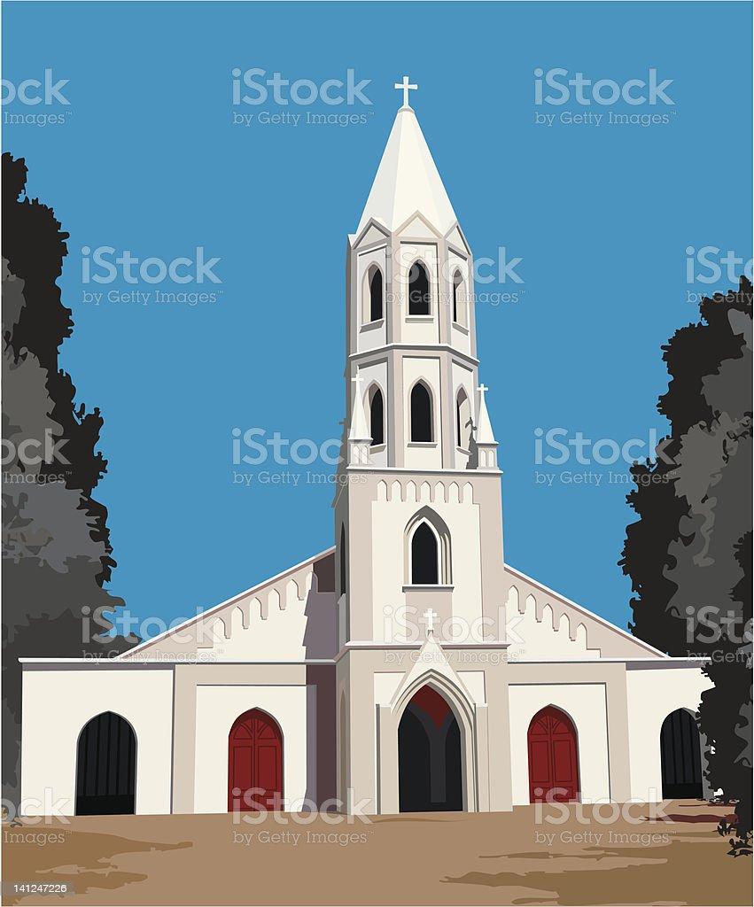 South American Catholic Church Vector royalty-free stock vector art