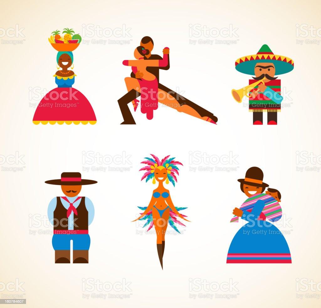 South American people - concept illustration vector art illustration
