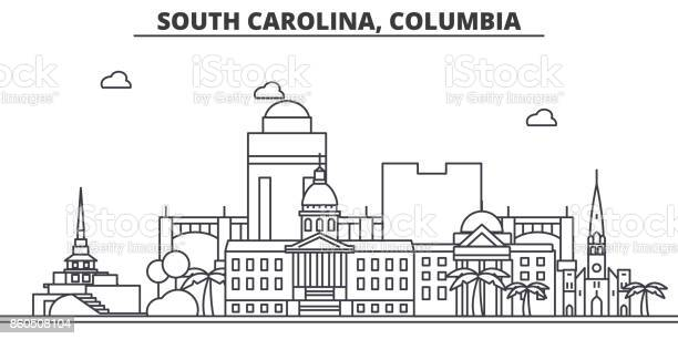 South california columbia architecture line skyline illustration vector id860508104?b=1&k=6&m=860508104&s=612x612&h=cxeqgo0cwmevjnsjtk0z0pc3oskr84t8zf917mirmca=