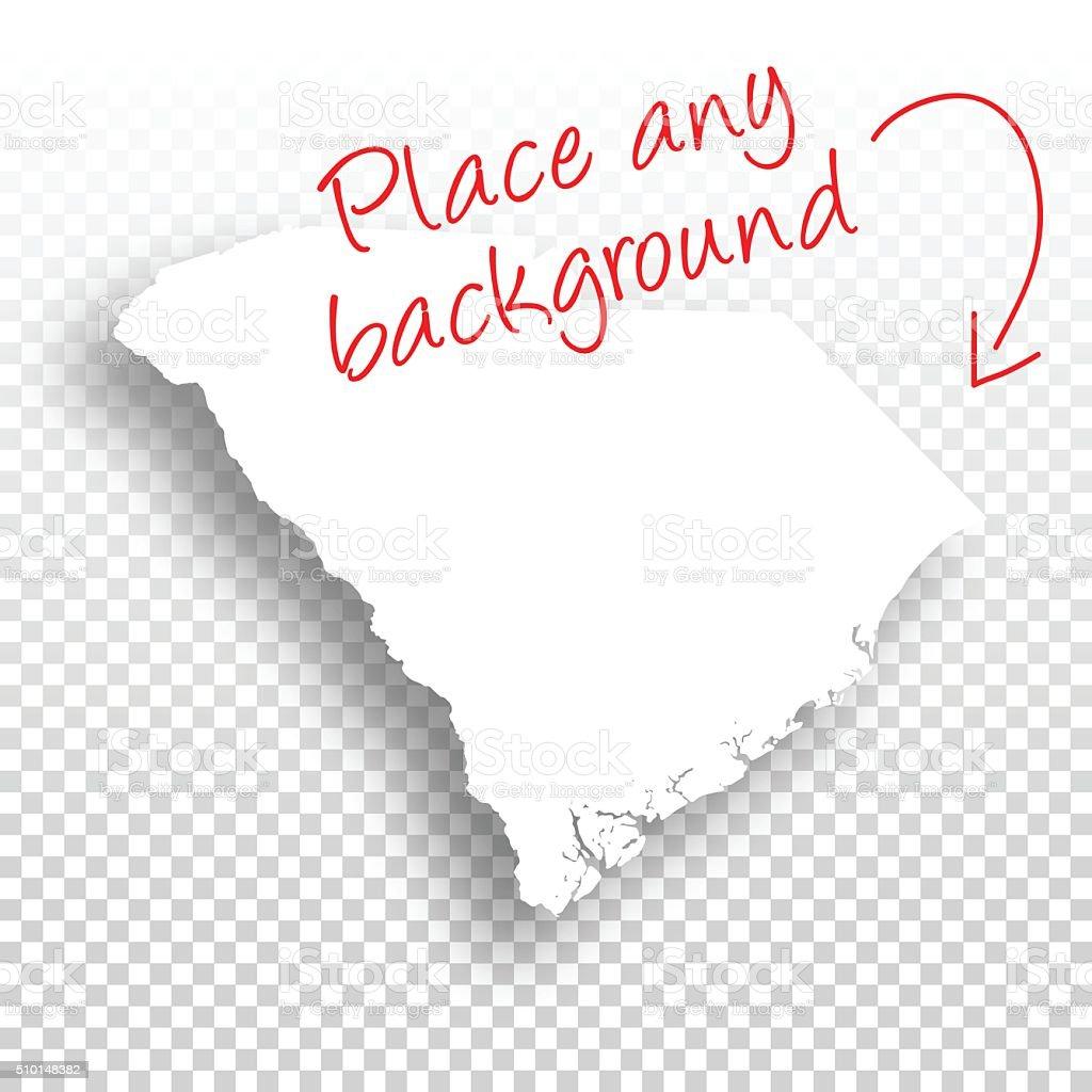South Carolina Map for design - Blank Background vector art illustration