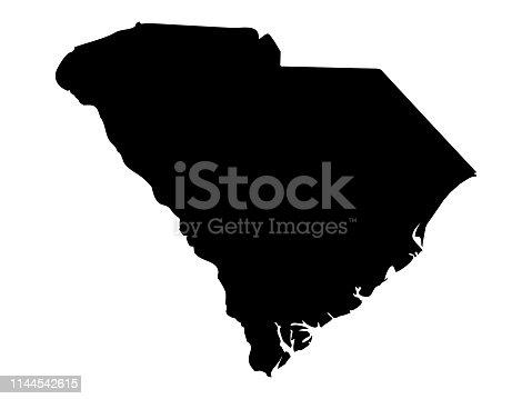 istock South Carolina map 1144542615