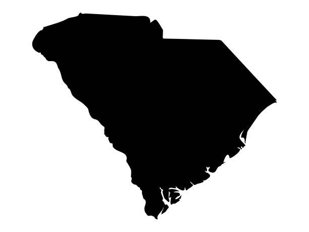 South Carolina map vector illustration of South Carolina map south carolina stock illustrations