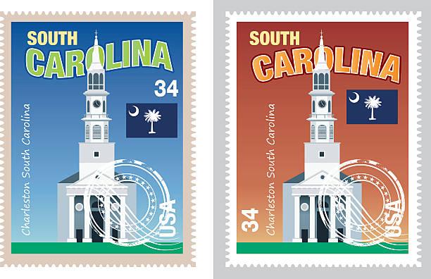 South Carolina Map Vector South Carolina Map south carolina stock illustrations