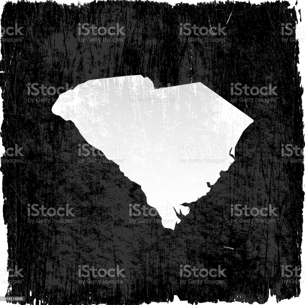South Carolina on royalty free vector Background royalty-free stock vector art