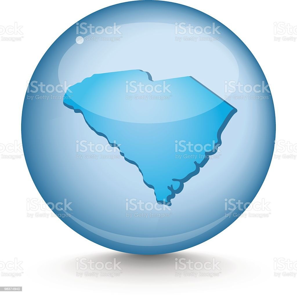 South Carolina - Sphere State Series royalty-free south carolina sphere state series stock vector art & more images of blue