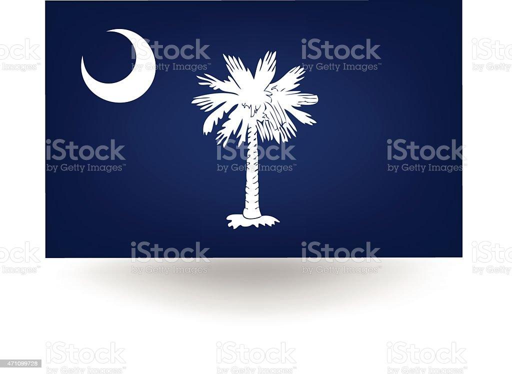 South Carolina State Flag vector art illustration