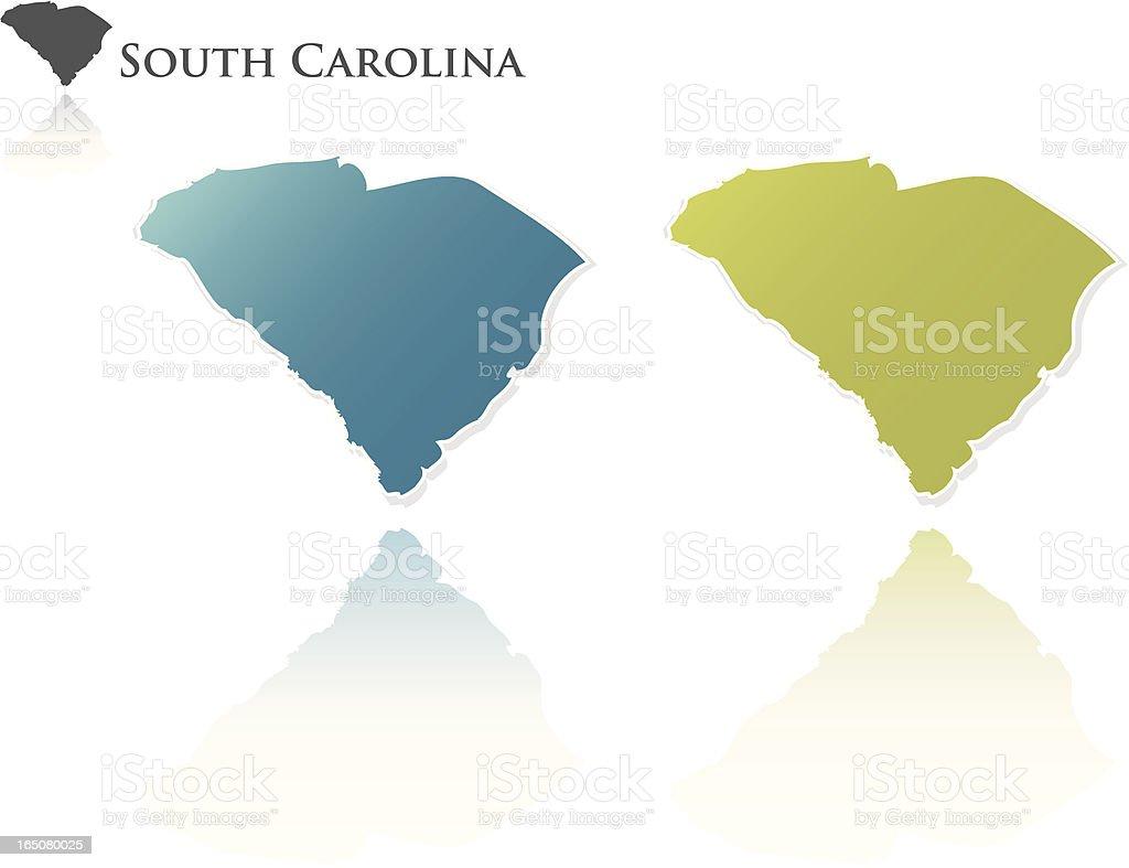 South Carolina State Graphic vector art illustration