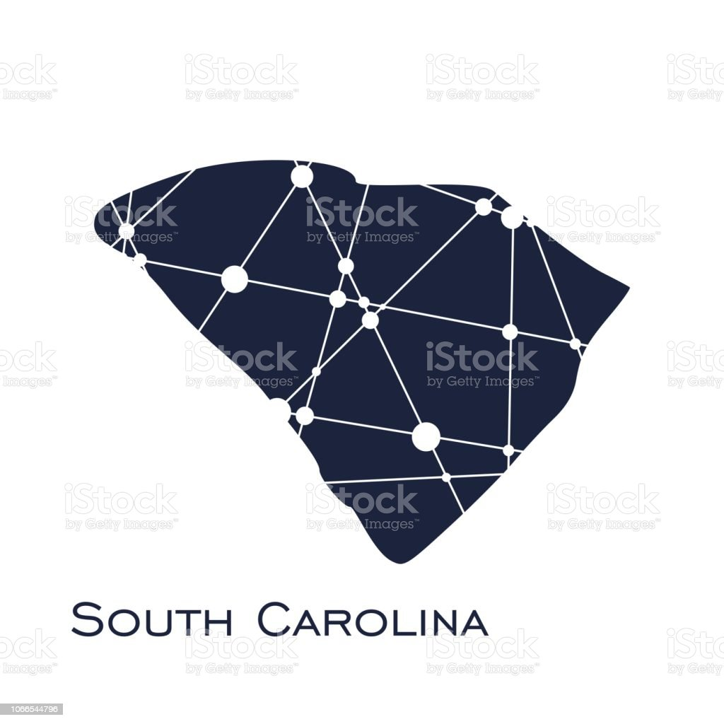 South Carolina State Map Stock Vector Art & More Images of Abstract ...