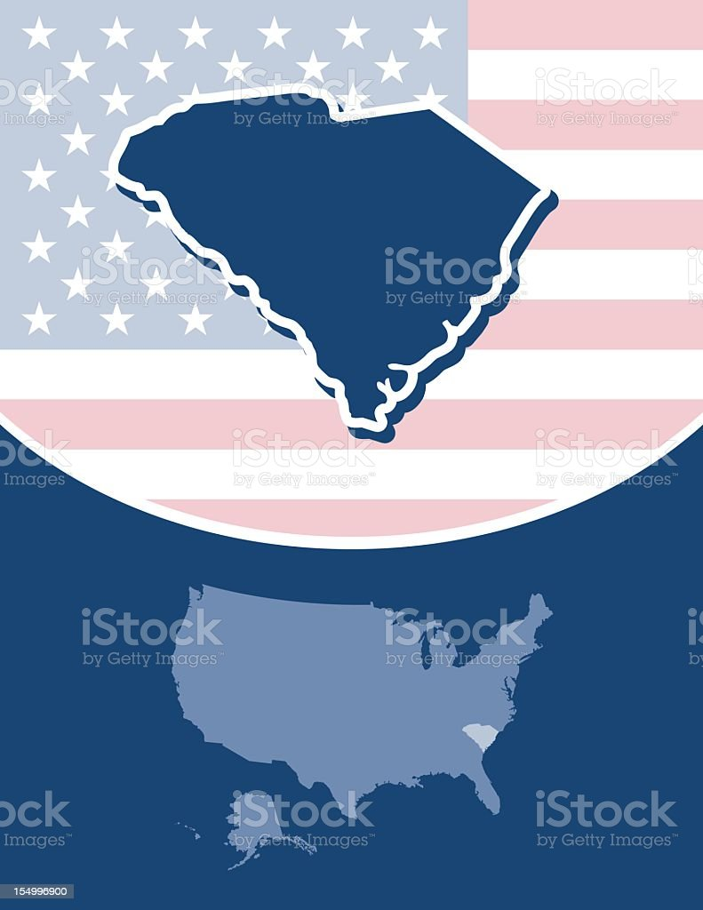 South Carolina state series royalty-free stock vector art