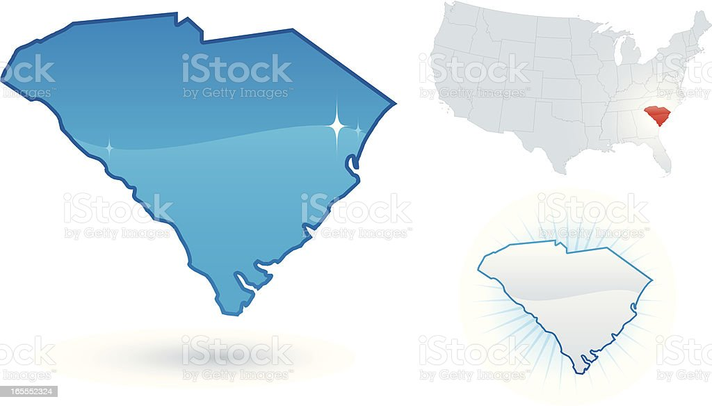 South Carolina State royalty-free stock vector art