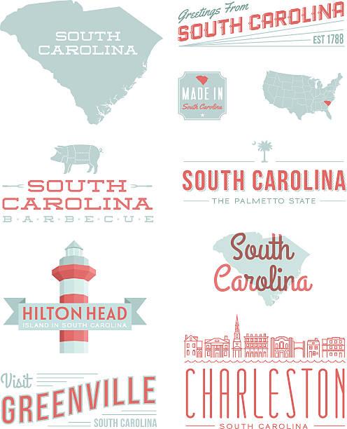 Typographie de Caroline du Sud - Illustration vectorielle