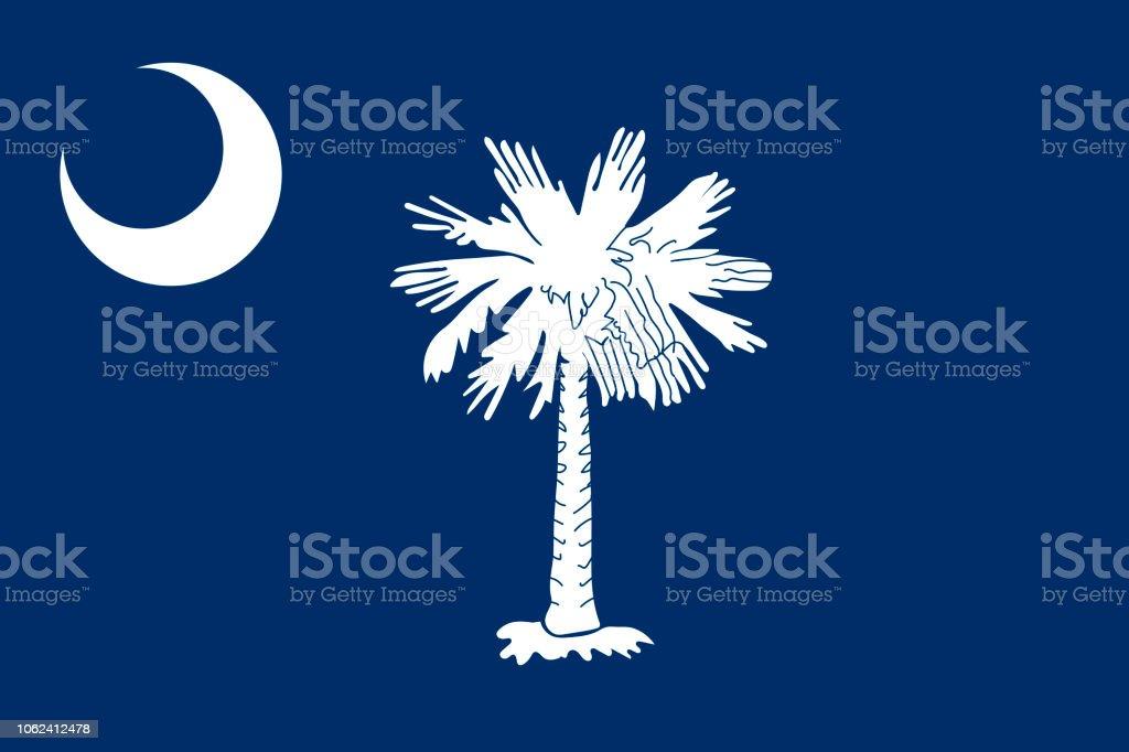Vector bandeira de Carolina do Sul. Ilustração em vetor. Estados Unidos da América. - ilustração de arte em vetor