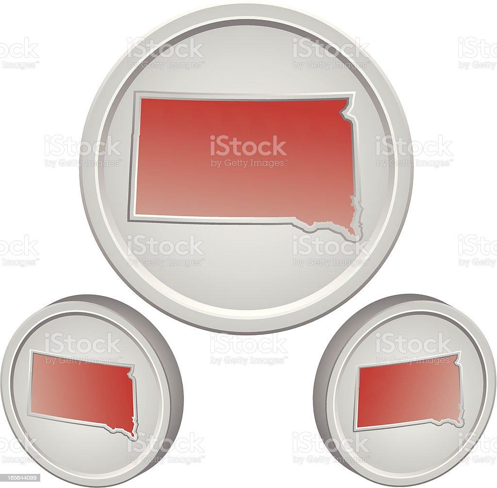 South Dakota Button royalty-free stock vector art