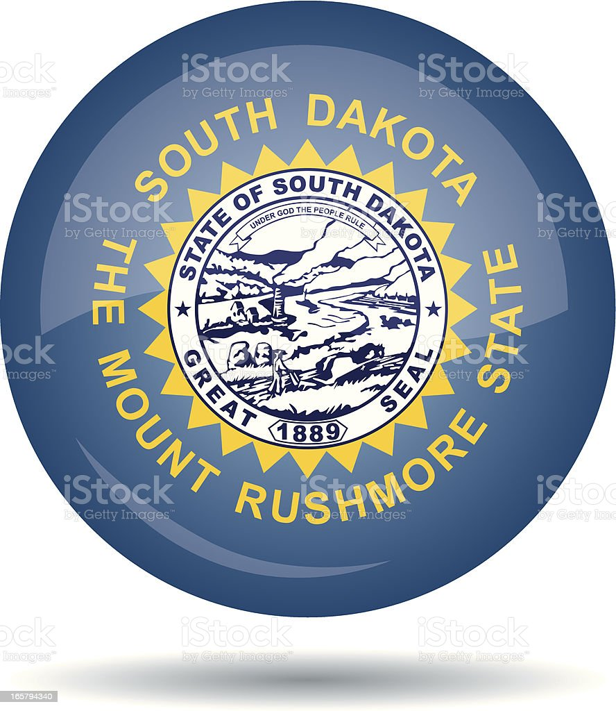 South Dakota flag vector art illustration