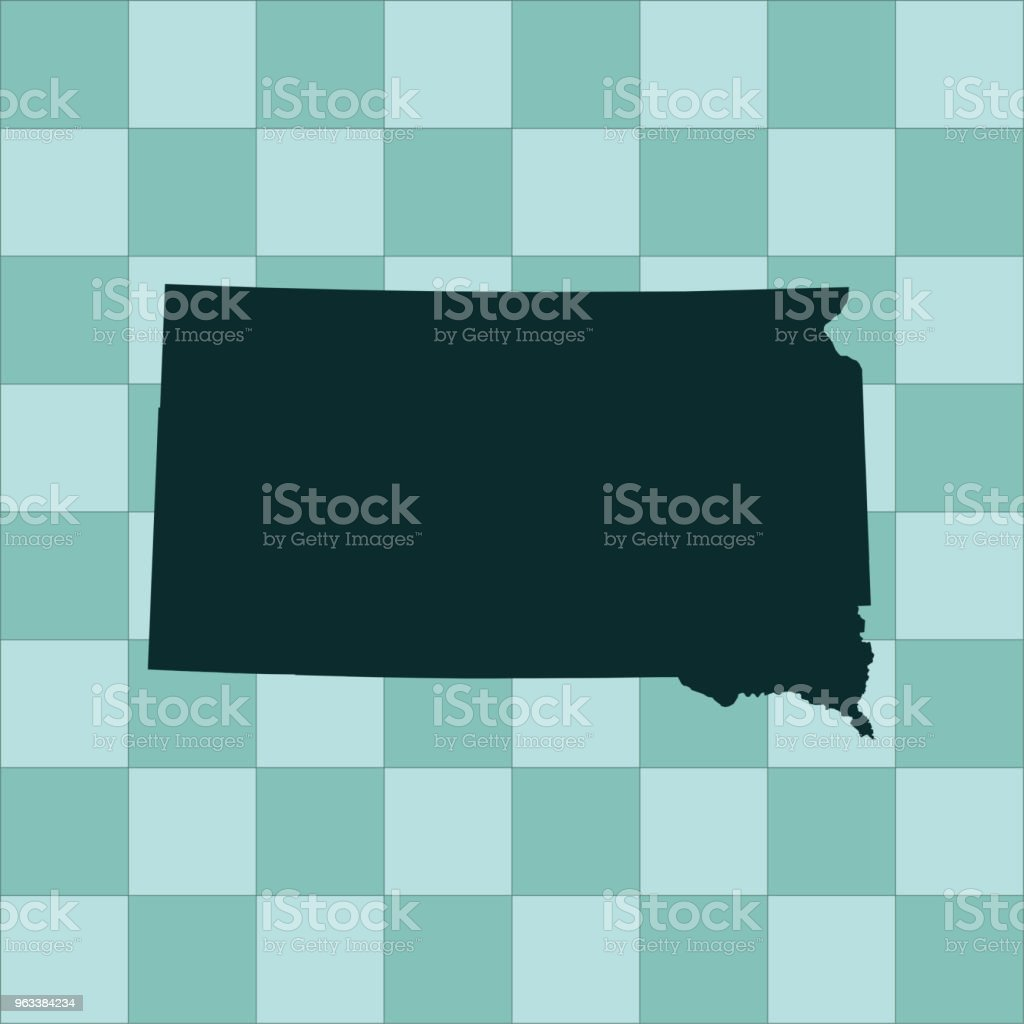 South Dakota map - Grafika wektorowa royalty-free (Ameryka Północna)