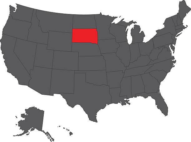 South Dakota Map Clip Art Vector Images Illustrations IStock - Usa map south dakota