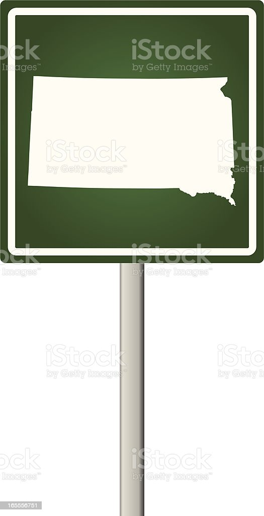 South Dakota Sign royalty-free stock vector art