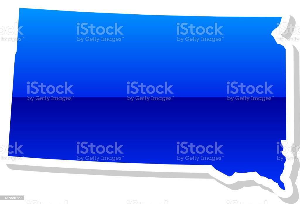 South Dakota State in 3 colors royalty-free stock vector art