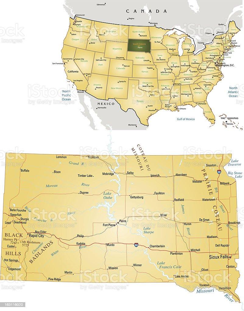 South Dakota royalty-free stock vector art
