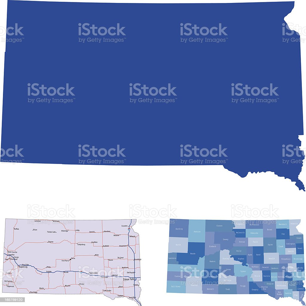 South Dakota royalty-free south dakota stock vector art & more images of blue
