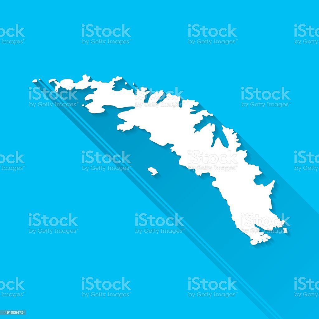 Map Of Georgia Islands.South Georgia And The South Sandwich Islands Map Blue Background