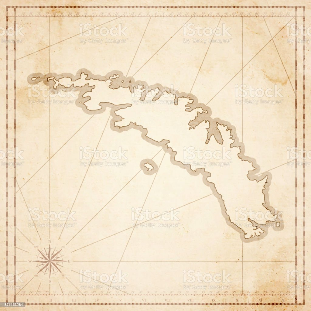 South Georgia And The South Sandwich Islands Map Retro Vintage Style ...