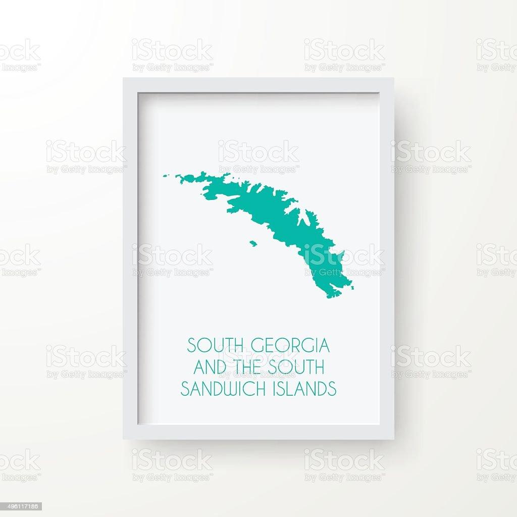 Süd Georgien Und Die Südlichen Sandwich Inseln Karte Weißes Gestell ...