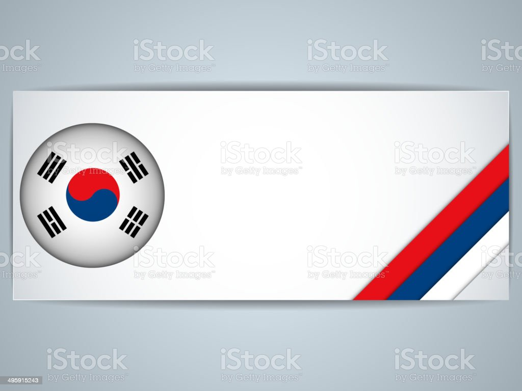 South Korea Country Set of Banners vector art illustration