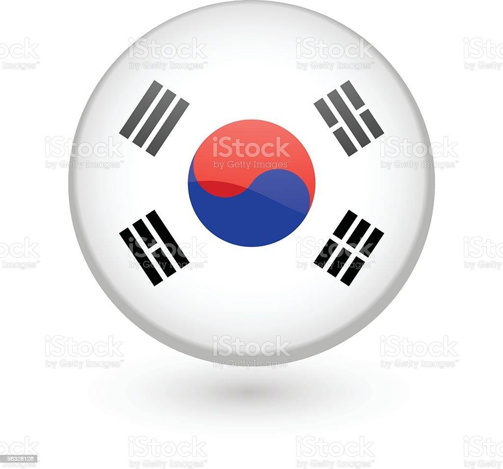 South Korea flag button royalty-free south korea flag button stock vector art & more images of badge