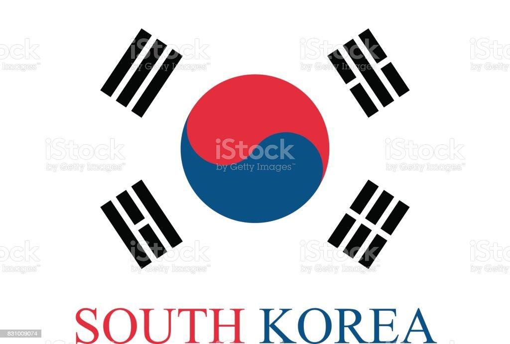 South Korea flag vector background in an abstract illustration design vector art illustration