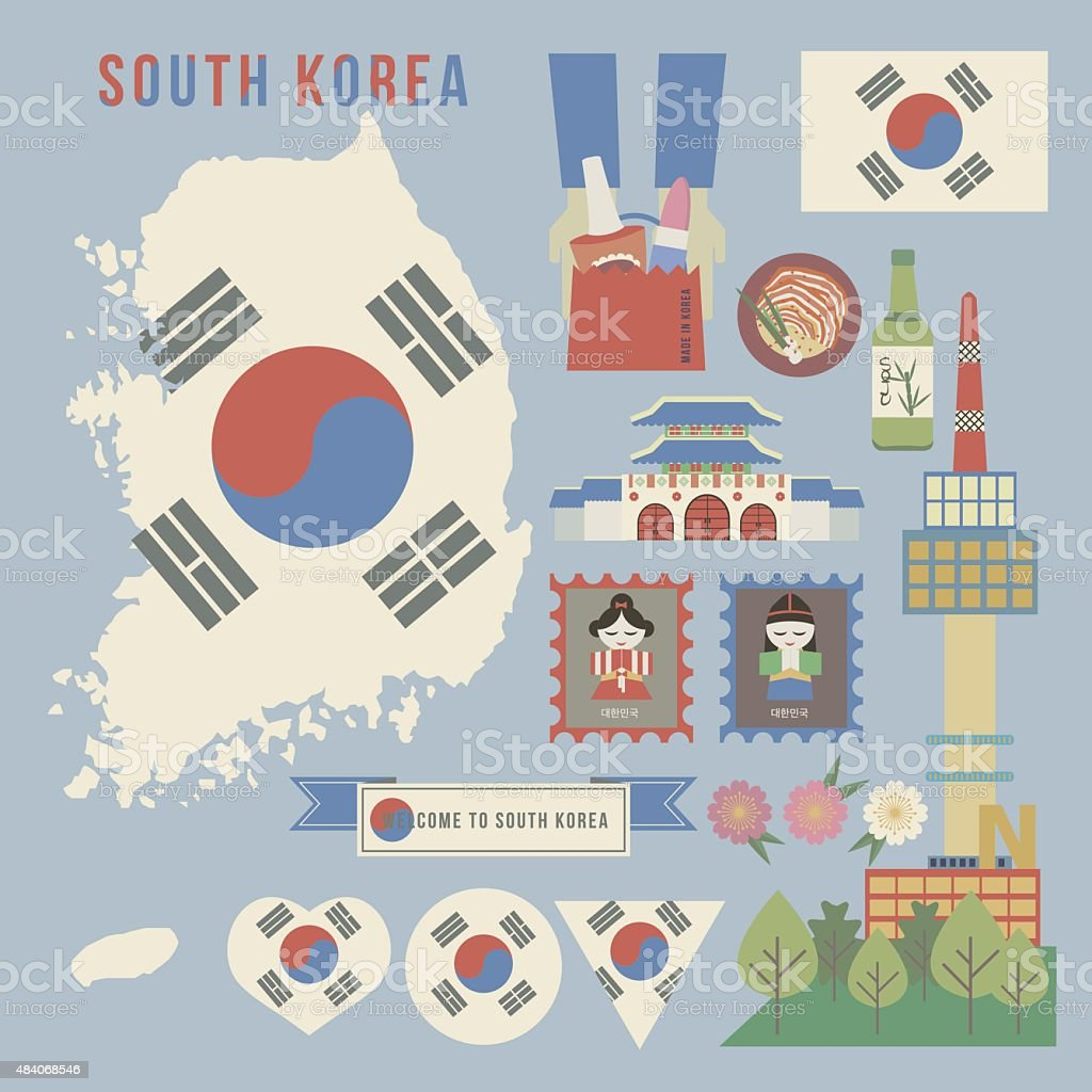 South korea guide map vintage style stock vector art more images south korea guide map vintage style royalty free south korea guide map vintage style stock gumiabroncs Image collections