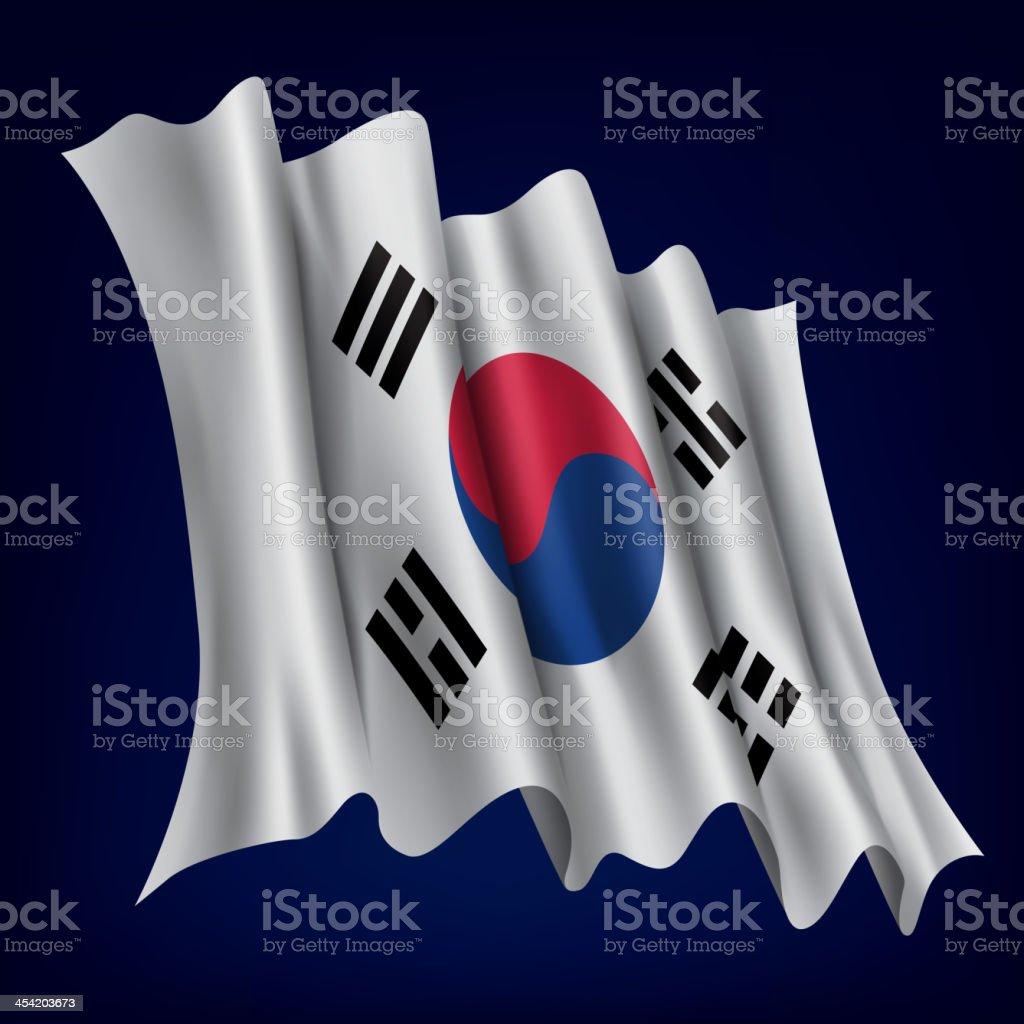 Coreia do Sul, bandeira da Korean - ilustração de arte em vetor