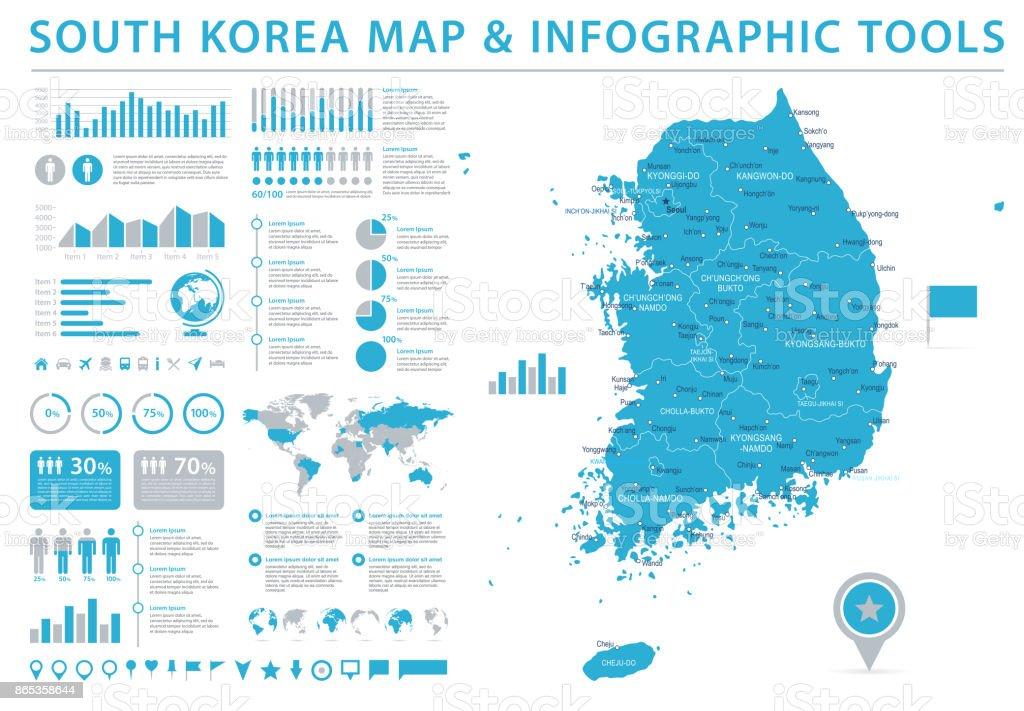 Südkorea Karte.Südkorea Karte Infografik Vektorillustration Stock Vektor Art Und Mehr Bilder Von Alt
