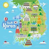South Korea travel map