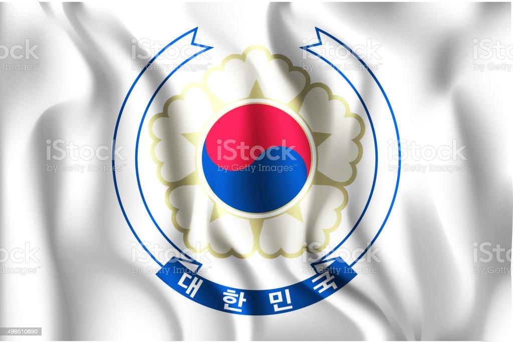 South Korea Variant Flag. Rectangular Shape Icon vector art illustration