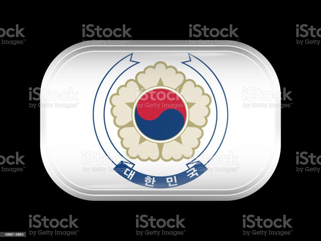 Variante bandeira da Coreia do Sul. Retangulares com cantos arredondados - ilustração de arte em vetor