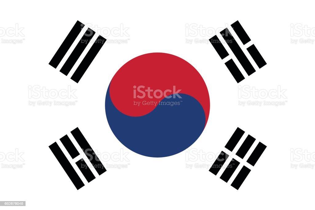 Coreia do Sul - ilustração de arte em vetor