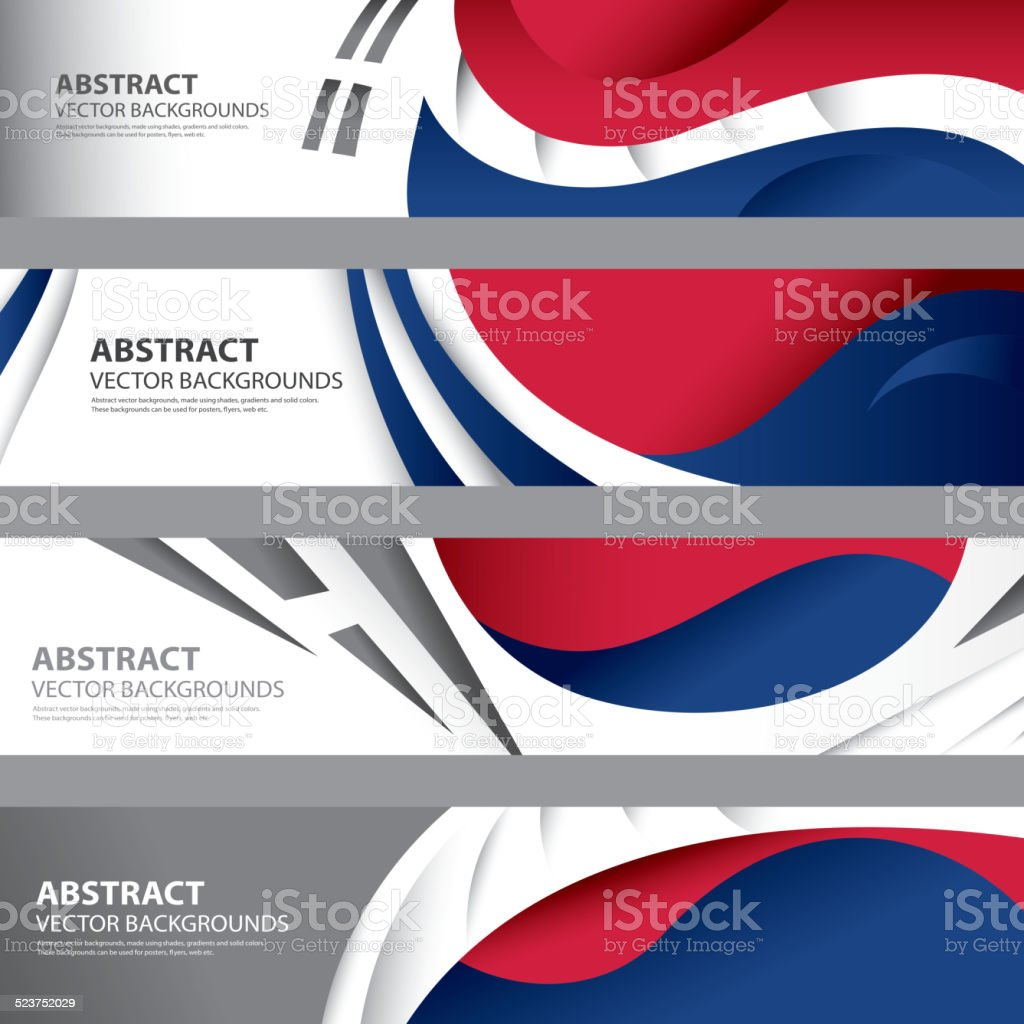 Abstrato bandeira sul-coreano,.  Coreia arte (cor vetores) - ilustração de arte em vetor