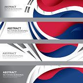 South Korean Abstract Flag, S. Korea Color Art (vector Art)