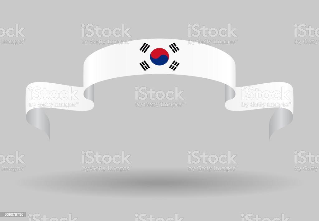 Bandeira sul-coreano de fundo. Ilustração vetorial. - ilustração de arte em vetor