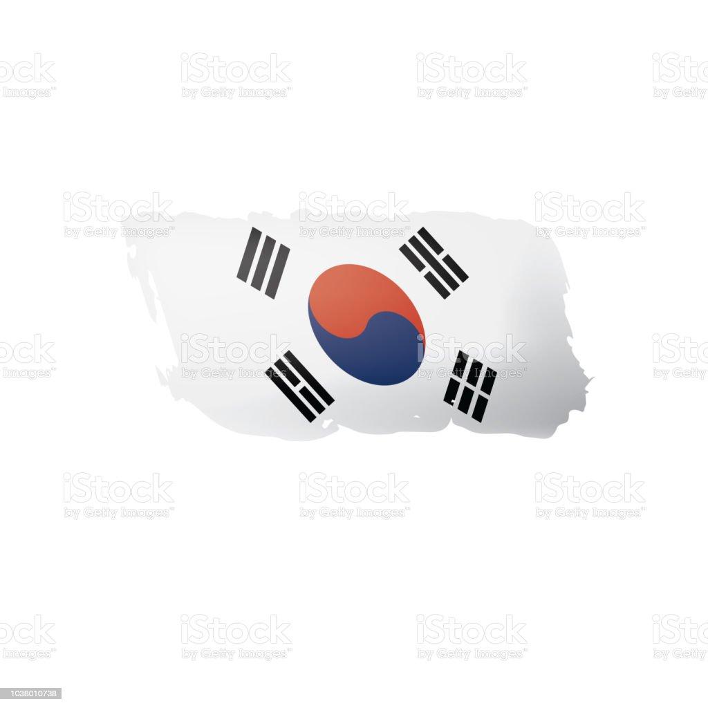 3426b685e South Korean Flag Vector Illustration On A White Background Stock ...