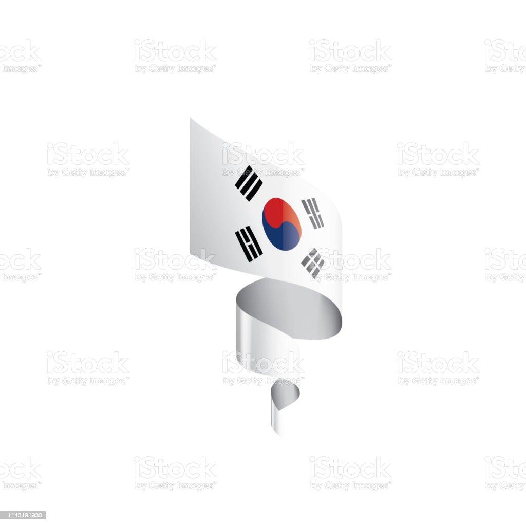 South Korean Flag Vector Illustration On A White Background