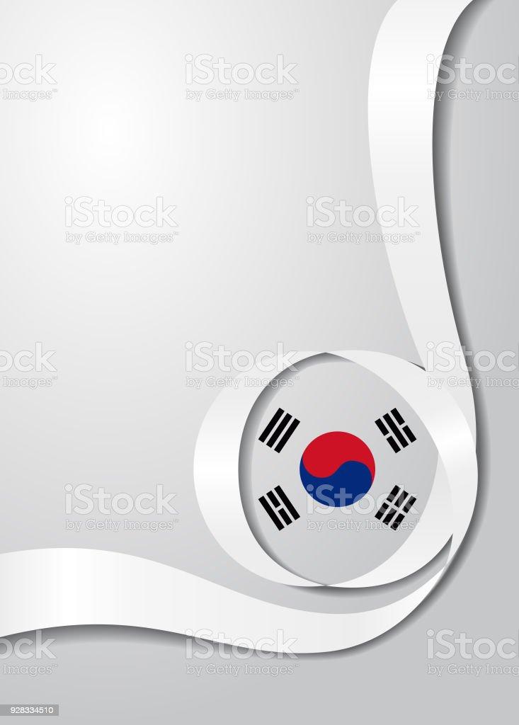 Fundo ondulado bandeira sul-coreano. Ilustração em vetor. - ilustração de arte em vetor