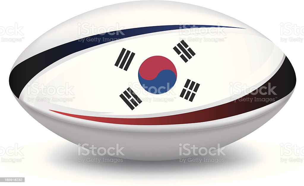 South Korean Rugby Ball royalty-free stock vector art