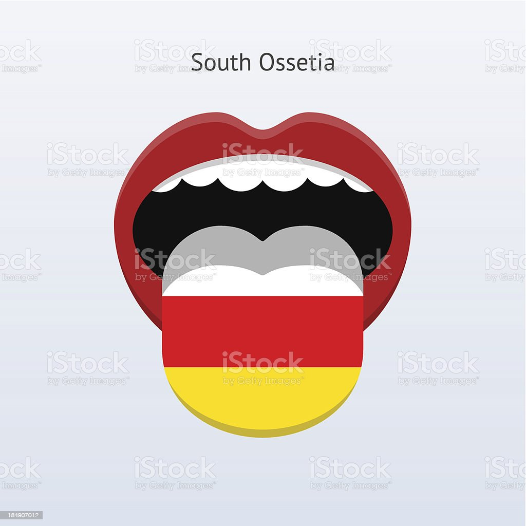 South Ossetia language. Abstract human tongue. royalty-free stock vector art