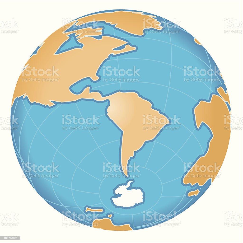S 極マップ(南極 ベクターアートイラスト