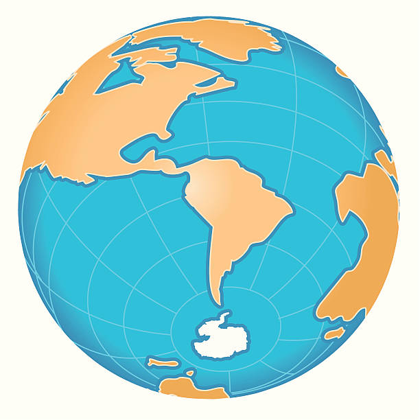 s 極マップ(南極 - 南極旅行点のイラスト素材/クリップアート素材/マンガ素材/アイコン素材