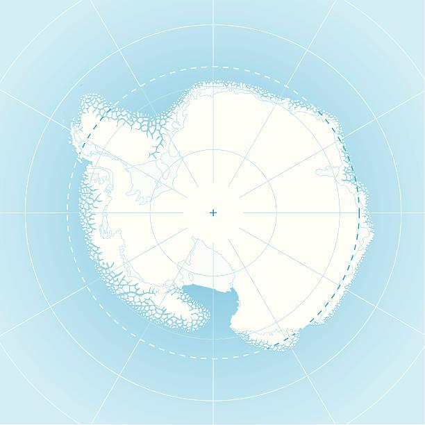 south pole map (antarctica) - antarctica maps stock illustrations, clip art, cartoons, & icons